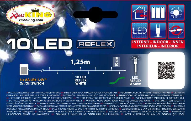 Lotti 24915 Catena Mb 10 Led Bianco 5mm Luce Fissa A Batteria