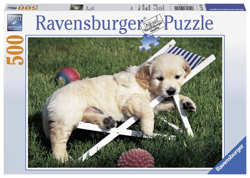 Puzzle 500 pz Cucciolo di Golden Retriever